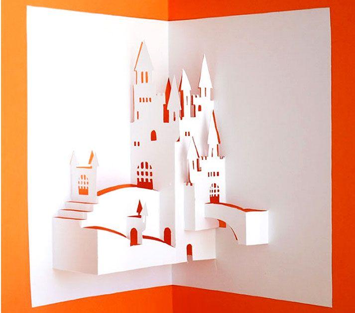 объемные открытки из бумаги в архитектуре нужно было