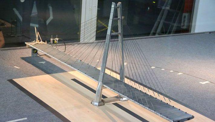 Макет моста из дерева