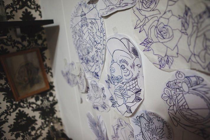 татуировки бумаге