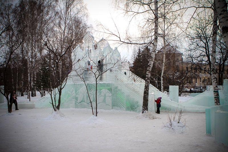 Томск зимний городок фото
