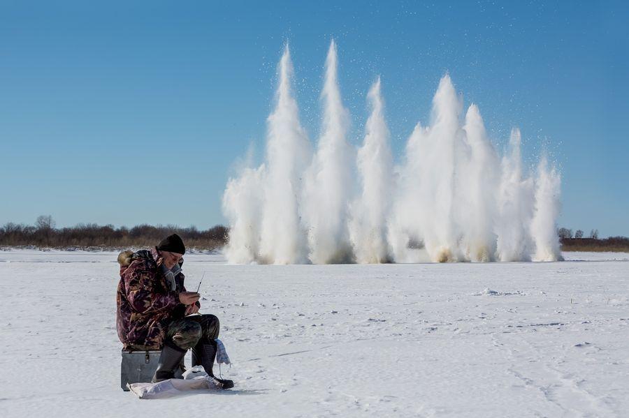 Завтра на Томи начнут взрывать лёд