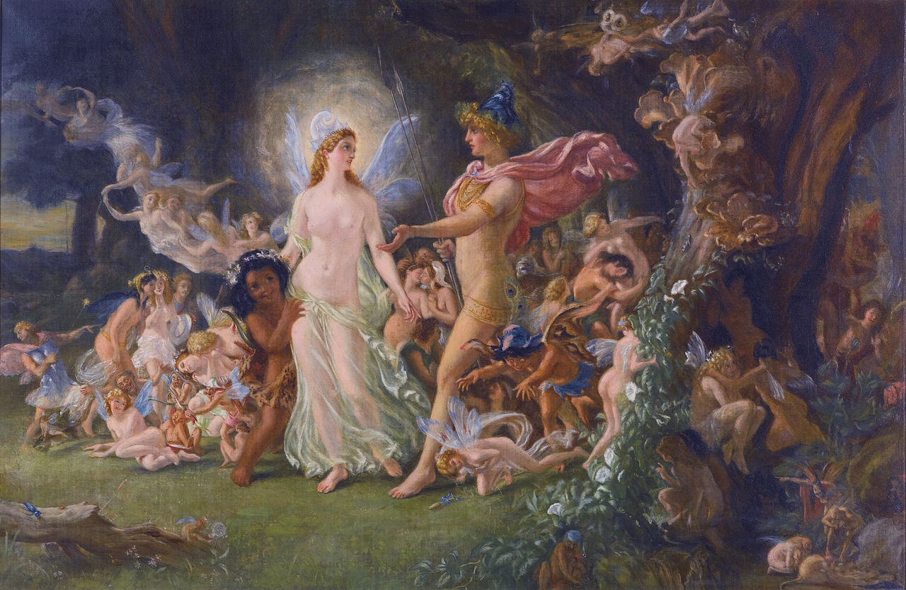 a literary analysis of the characters oberon and titania in the play by william shakespeare A midsummer night's dream was written in the 1590s and is one of the bard's most popular comedy plays the play is set in a forest, supposedly inspired by the forest of arden which once surrounded shakespeare's hometown of stratford-upon-avon.