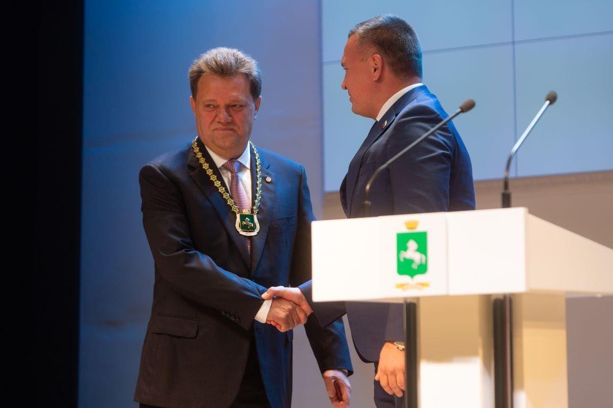Иван Кляйн во второй раз вступил в должность мэра Томска