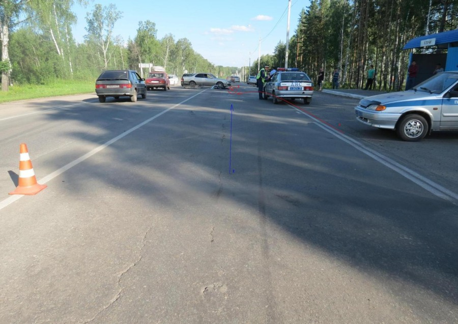 Томская милиция ищет очевидцев трагедии, вкоторой умер мотоциклист