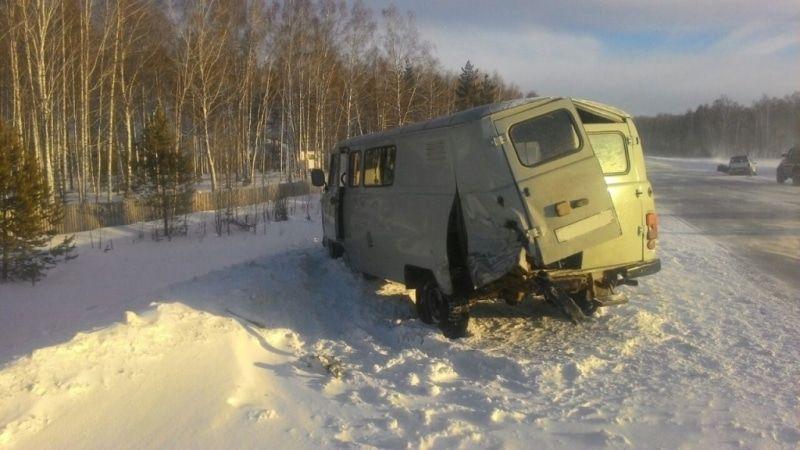 Шофёр «Оки» умер при столкновении сУАЗом натрассе Томск— Колпашево