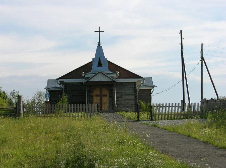 Старейший деревянный костел Российской Федерации сгорел вТомской области