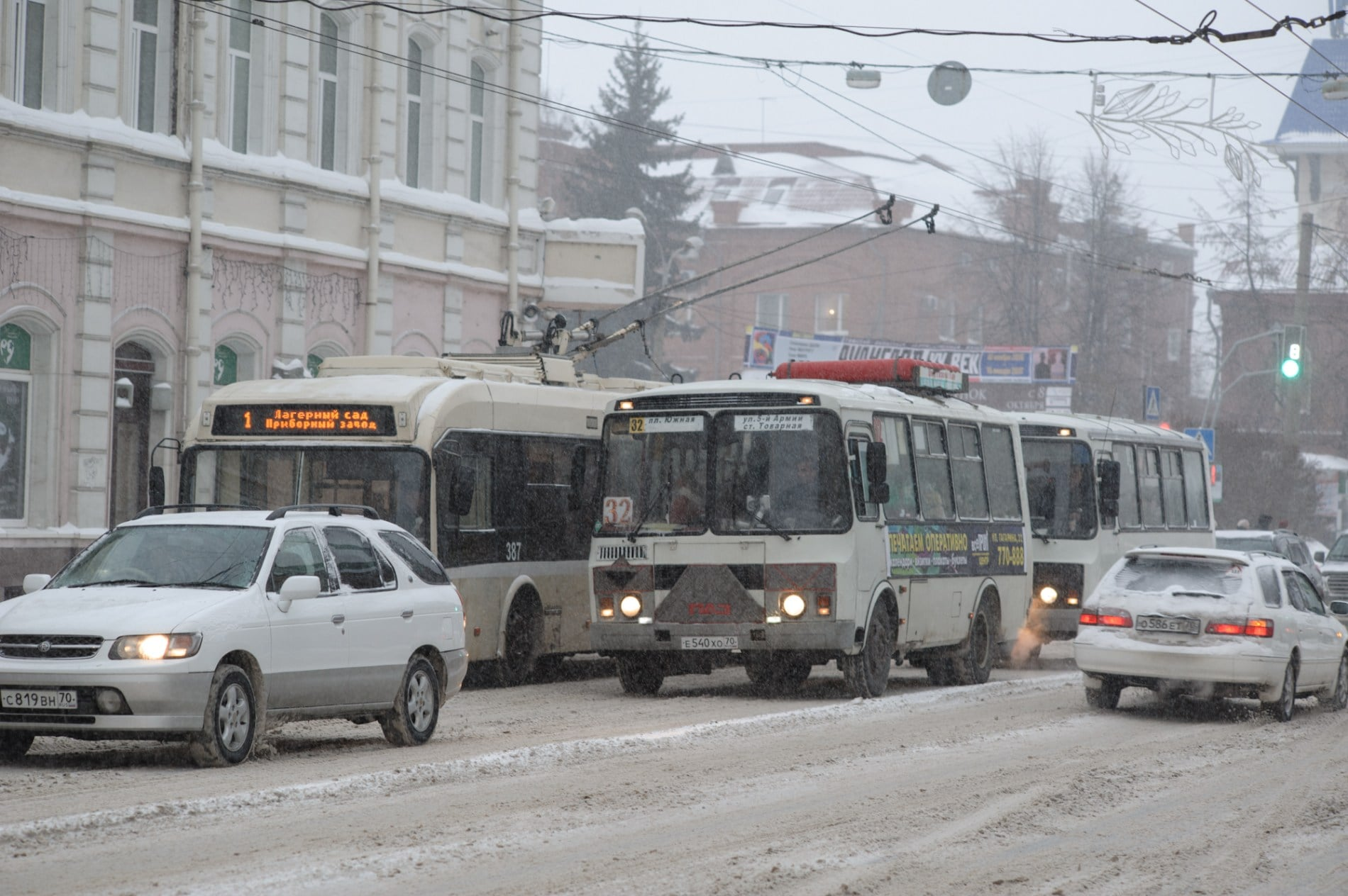 Снового года стоимость проезда вТомске вырастет на руб.