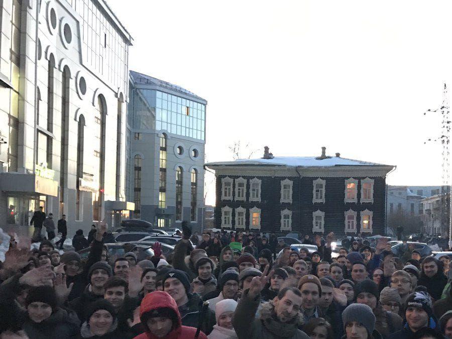 ВЧите намитинг Навального пришли всего сто человек