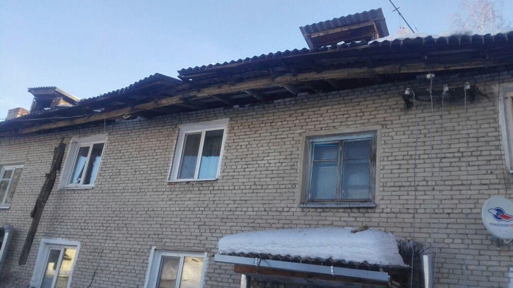 Под тяжестью снега обрушилась кровля жилого дома в Асине, возбуждено уголовное дело